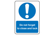 Close and Lock Lift Signs