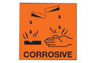 Corrosive Chip Labels