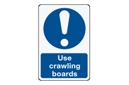 Crawling Boards Signs