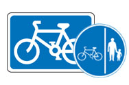 Cyclist and Pedestrian signs