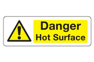 Danger Hot Signs