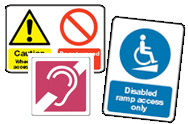 Disability Discrimination Act Signs