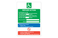 Disability Fire Action Signs
