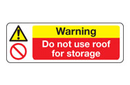 Do not use roof signs