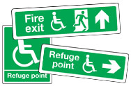 Disabled Emergency Escape Signs