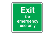 Emergency Use Only Signs