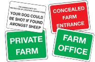 General Farm Signs
