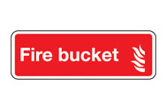 Fire Bucket Signs