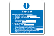 First Aid Action Signs