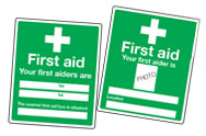 First Aiders Signs