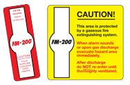 FM-200 Hazard Signs