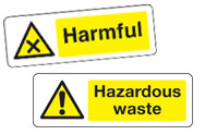 Harmful and Hazardous Signs