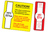 HFC 227ea hazard signs