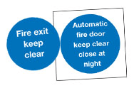 Keep Clear Fire Signs