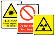 Lasers & Radiation Signs