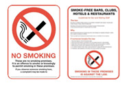 New No Smoking Legislation Signs