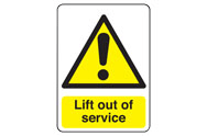 Lift out of service signs