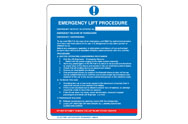Emergency Lift Procedure Signs