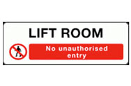 Lift Room Access Signs