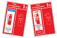 Fire Extinguisher Location Panels