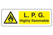 L.P.G Highly Flammable Signs