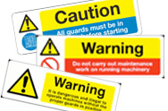 Machine Hazard Signs
