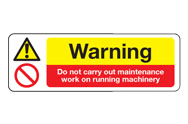 Running Machinery Signs