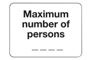 Maximum number of persons signs