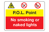 No Smoking or Naked Lights Signs