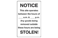 Construction notice signs