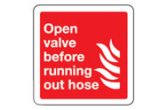 Open valve signs