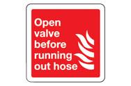 Open valve signs