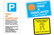Pay and Display Signs
