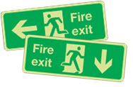 Photoluminescent Fire Exit Signs