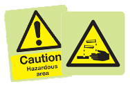 Photoluminescent Hazard Signs