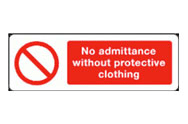 Protective Clothing Admittance Signs