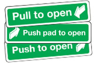 Push and Pull to open signs