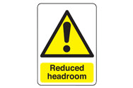 Reduced Headroom Signs