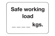 Safe working load signs