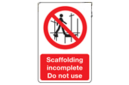 Scaffolding Signs