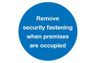 Mandatory Security Signs