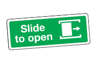 Slide to open signs