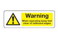 Tailboard Signs