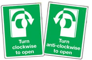 Turn to open signs