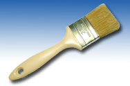 White Bristle Paintbrush
