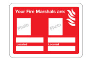 Your fire marshals are... signs
