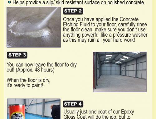 Prepare and paint a concrete floor