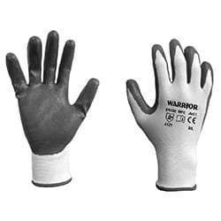 Warrior Non Porous Foam Nitrile Gloves