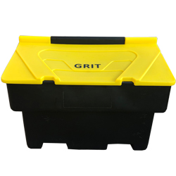 Stackable Grit Bin 200 Litre - Black and Yellow