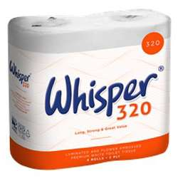 Whisper® 320 2-Ply Toilet Roll - Case of 36